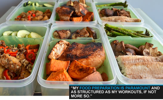 Food preparation for bodybuilders.
